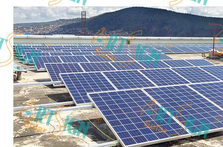 Solar energy flat roof mounting system