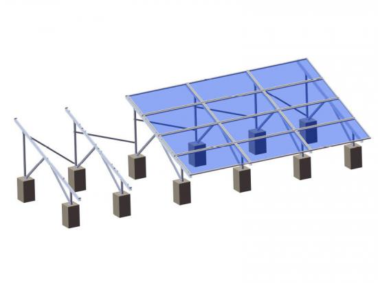 Aluminum solar panel ground mount system