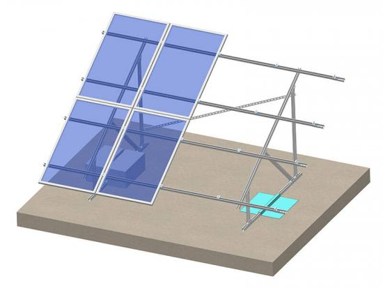 Flat roof solar mount for solar panel